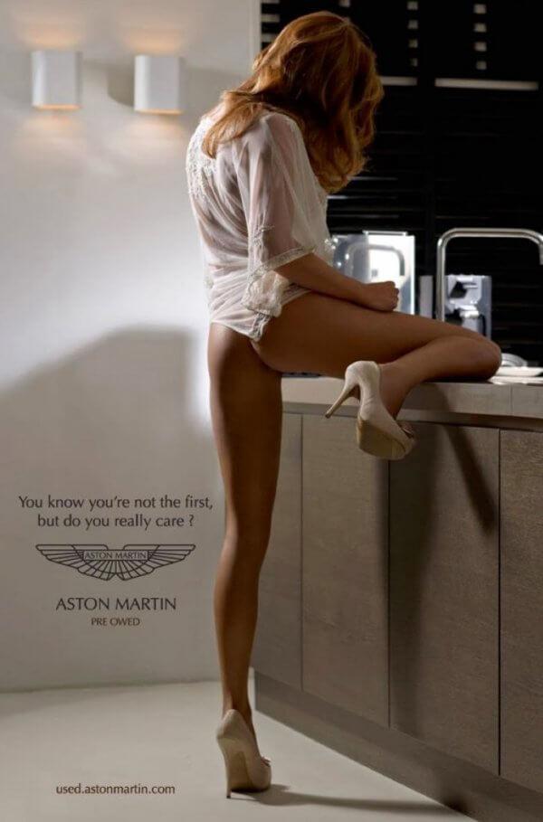 Aston Martin Werbeanzeige